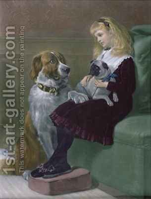 Her only Playmates by Heywood Hardy - Reproduction Oil Painting