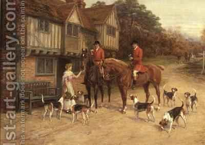 A Refresher at the Dragon by Heywood Hardy - Reproduction Oil Painting
