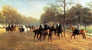 Famous paintings of Horses & Horse Riding: The Morning Ride Rotten Row Hyde Park