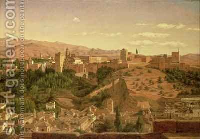 A View of Granada by Heinrich Hansen - Reproduction Oil Painting