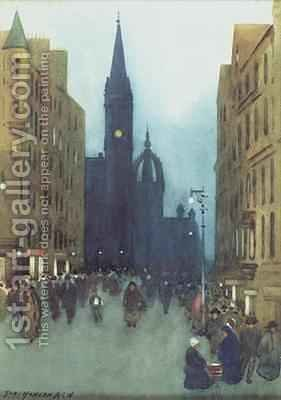 High Street Edinburgh by Hans Hansen - Reproduction Oil Painting