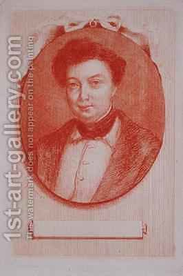 Portrait of Alexandre Dumas pere 1803-70 by J. Hanriot - Reproduction Oil Painting