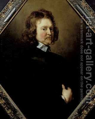 Portrait of Edward Hyde 1609-74 1st Earl of Clarendon by Adriaen Hanneman - Reproduction Oil Painting