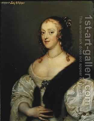 Margaret 1635-1710 wife of 2nd Lord Colepeper by Adriaen Hanneman - Reproduction Oil Painting