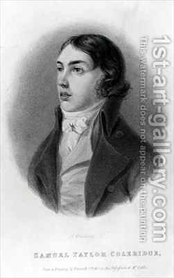 Portrait of Samuel Taylor Coleridge 1772-1834 as a Young Man by (after) Hancock, Robert - Reproduction Oil Painting