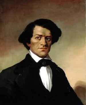 Neo-Classical painting reproductions: Portrait of Frederick Douglass 1818-95