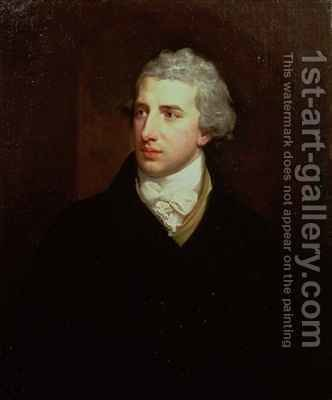 Portrait of Robert Stewart Viscount Castlereagh by Hugh Douglas Hamilton - Reproduction Oil Painting