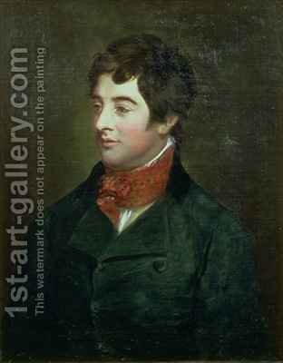 Portrait of Lord Edward Fitzgerald 1763-98 Irish nationalist politician by Hugh Douglas Hamilton - Reproduction Oil Painting