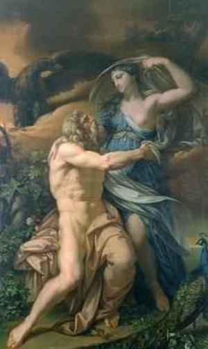 Rococo painting reproductions: Juno and Jupiter