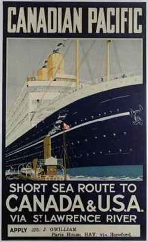 Poster advertising Canadian Pacific ferry company