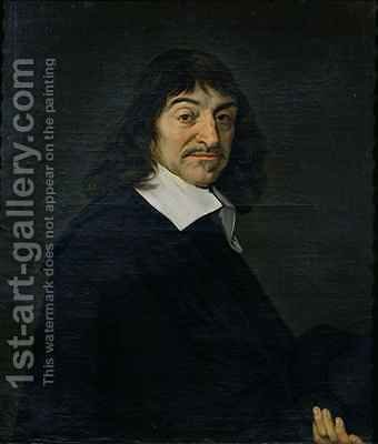 Portrait of Rene Descartes 1596-1650 by (after) Hals, Frans - Reproduction Oil Painting