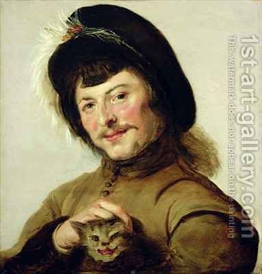 A Young Man with a Cat