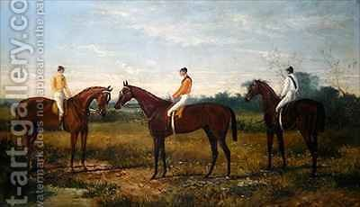 Winners in the Derby by Harry Hall - Reproduction Oil Painting