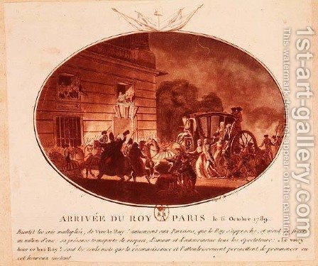 The Arrival of the King in Paris on 6th October 1789 by (after) Guyot, Laurent - Reproduction Oil Painting