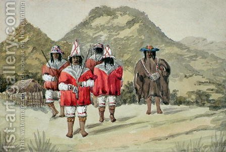 Indios dansantes by Alfred Gustin - Reproduction Oil Painting