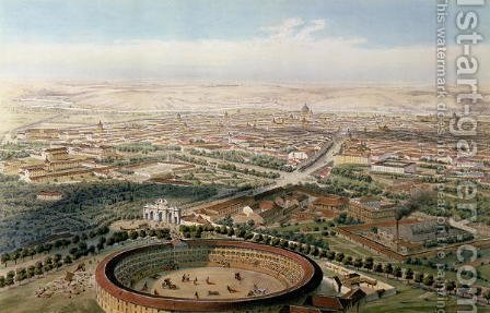 Aerial View of Madrid from the Plaza de Toros by Alfred Guesdon - Reproduction Oil Painting