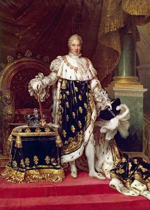 Neo-Classical painting reproductions: Portrait of Charles X 1757-1836 in Coronation Robes