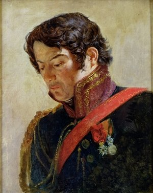 Neo-Classical painting reproductions: Study for a Portrait of Baron Dominique Larrey 1766-1843