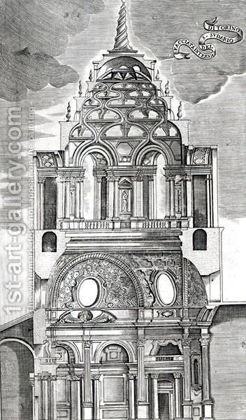Architectural Illustration by Guarino Guarini - Reproduction Oil Painting