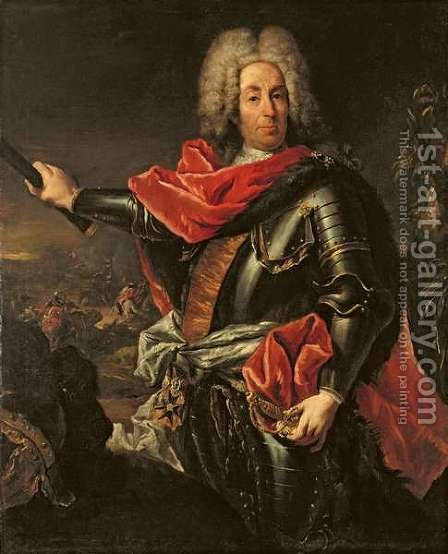 General Count Johann Matthias von der Schulenburg by Giovanni Antonio Guardi - Reproduction Oil Painting