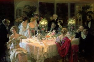 Art Deco painting reproductions: The End of Dinner