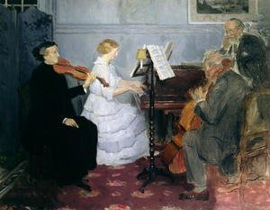 Art Deco painting reproductions: Chamber Music Concert