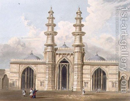 The Shaking Minarets of Ahmedabad by (after) Grindlay, Captain Robert M. - Reproduction Oil Painting