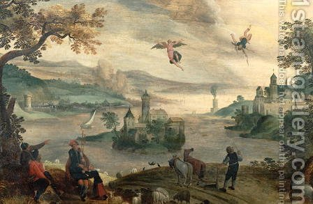 The Fall of Icarus by Jacob Grimmer - Reproduction Oil Painting