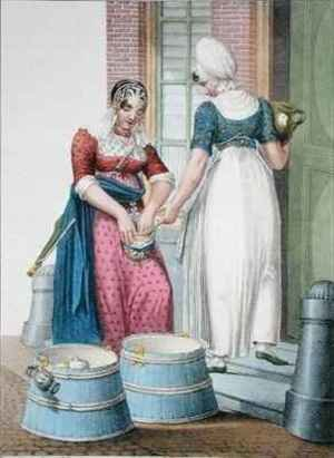An Amsterdam servant and a local milkmaid