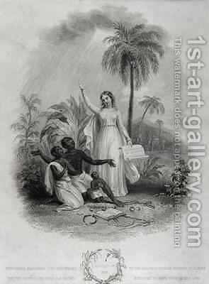 Britannia Giving Freedom to Poor African Slaves by (after) Green, W. - Reproduction Oil Painting
