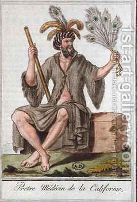 Priest Doctor from California from Encyclopedie des Voyages by (after) Grasset de Saint-Sauveur, Jacques - Reproduction Oil Painting