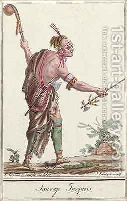Iroquois Savage by (after) Grasset de Saint-Sauveur, Jacques - Reproduction Oil Painting