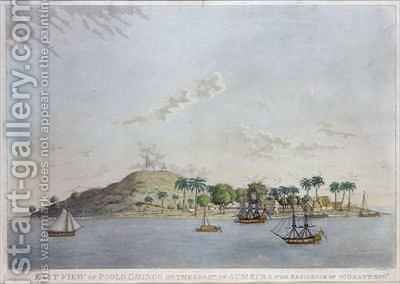 East View of Poolo Chinco on the Coast of Sumatra the Residence of W Grant Esq by (after) Grant, William - Reproduction Oil Painting