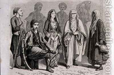 Anatolian Dress in the 1860s by (after) Grandsire, Pierre Eugene - Reproduction Oil Painting
