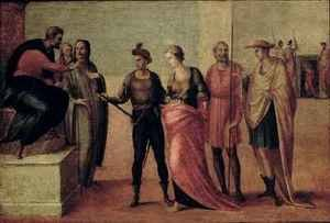 Reproduction oil paintings - Francesco Granacci - The Sentencing of St Lucy