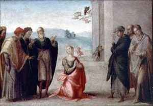 Reproduction oil paintings - Francesco Granacci - Martyrdom of a female saint
