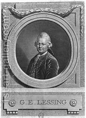 Portrait of Gotthold Ephraim Lessing 1729-81 by (after) Graf, Anton - Reproduction Oil Painting