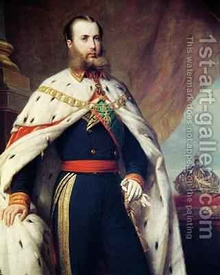 Maximilian of Hapsburg Lorraine 1832-67 Emperor of Mexico by Alfred Graeffle - Reproduction Oil Painting