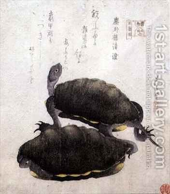 Shinobazu Pond from the series Contest of Famous Products of Edo by Hotei Gosei - Reproduction Oil Painting