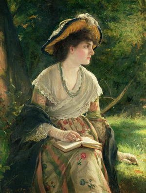 Reproduction oil paintings - Robert James Gordon - Woman Reading