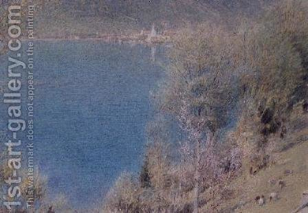Witznan Lake Lucerne by Albert Goodwin - Reproduction Oil Painting