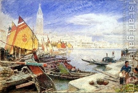 Venice 2 by Albert Goodwin - Reproduction Oil Painting