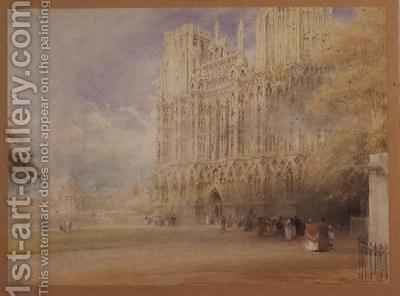 Wells Cathedral by Albert Goodwin - Reproduction Oil Painting