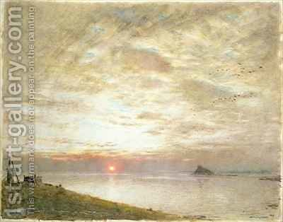 Mounts Bay Cornwall by Albert Goodwin - Reproduction Oil Painting