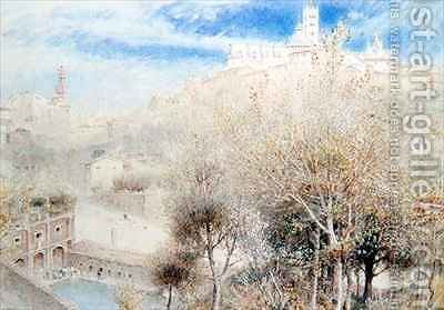 The Fonte Branda Siena by Albert Goodwin - Reproduction Oil Painting