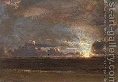 West Indian Sunset Barbados by Albert Goodwin - Reproduction Oil Painting