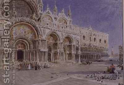 St Marks Basilica Venice by Albert Goodwin - Reproduction Oil Painting