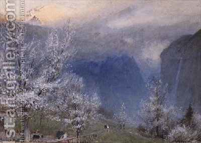 Lauterbrunnen by Albert Goodwin - Reproduction Oil Painting