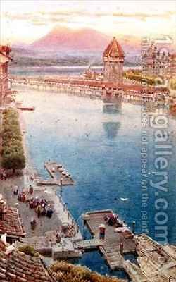 Lucerne 2 by Albert Goodwin - Reproduction Oil Painting