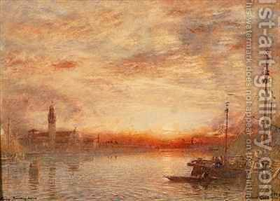 Venice Cemetery Island San Michele by Albert Goodwin - Reproduction Oil Painting